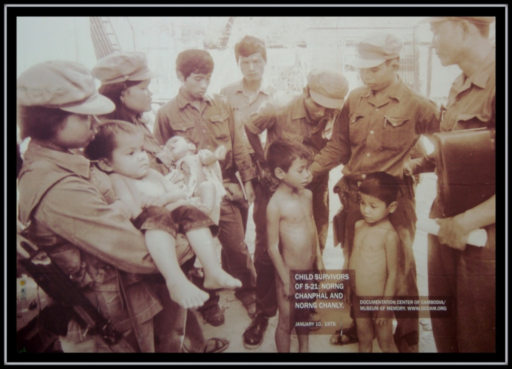 Photo of Child Survivors displayed at Tuol Sleng prison