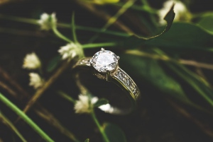 Rustic Engagement Ring Shot
