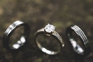 A Simple Engagement and Wedding Ring Shot Using Blue-Tak