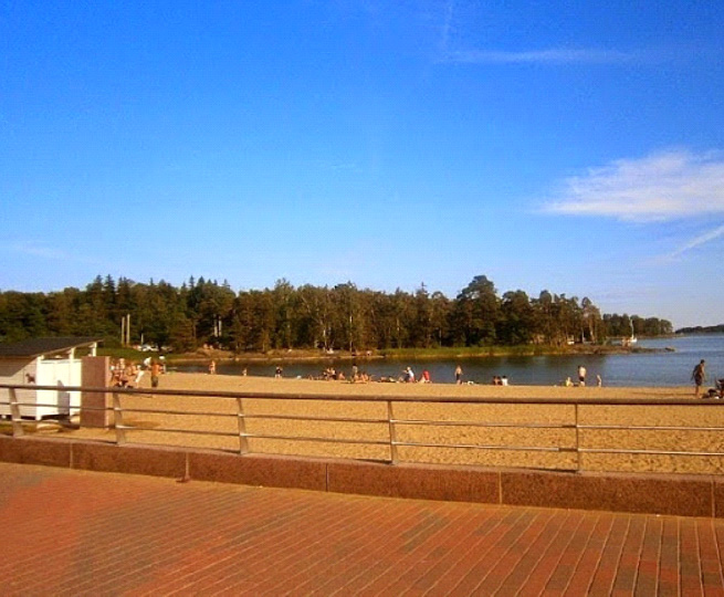 Beach in Vuosaari