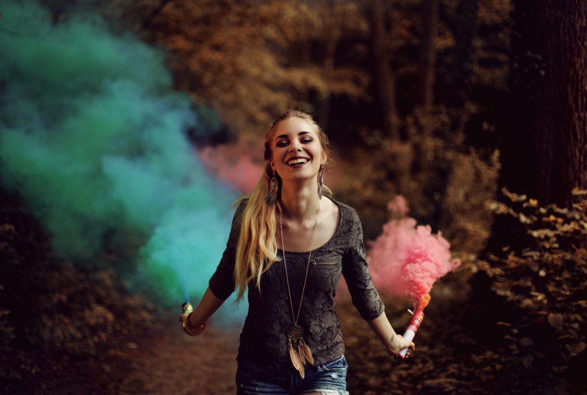 color smoke bomb photography