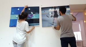 Preparing an exhibition
