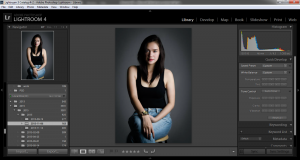 I go back to Lightroom after the edits I make in Photoshop for final proofing…