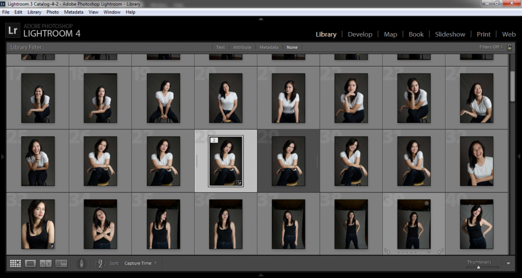 Picking and choosing is easier with the Lightroom catalogue…
