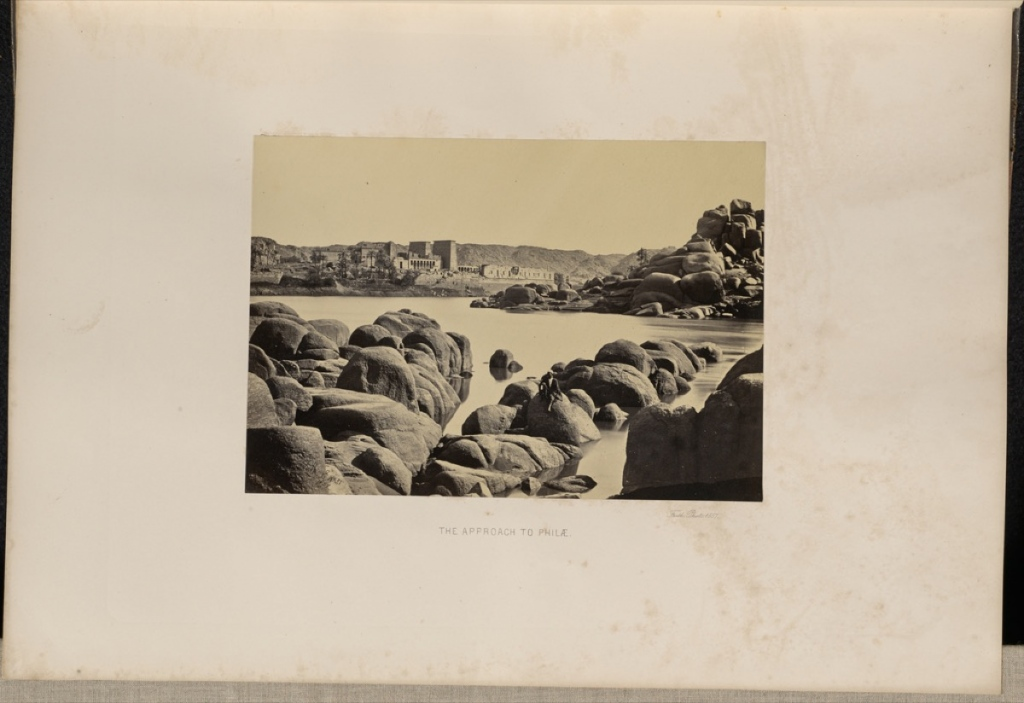 Francis Frith (English, 1822 - 1898) The Approach to Philae, 1857, Albumen silver print 16 x 23.2 cm (6 5/16 x 9 1/8 in.) The J. Paul Getty Museum, Los Angeles