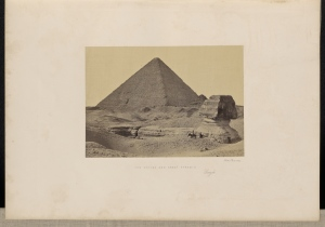 Francis Frith (English, 1822 - 1898) The Sphynx and Great Pyramid, Geezeh, 1857, Albumen silver print 15.7 x 22.5 cm (6 3/16 x 8 7/8 in.) The J. Paul Getty Museum, Los Angeles