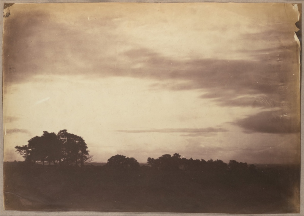 Roger Fenton (British, 1819 – 1969) Landscape with clouds, 1856, Salted paper print from glass negative 31.4 x 44.3 cm (12 3/8 x 17 7/16 in.) The Metropolitan Museum of Art, New York