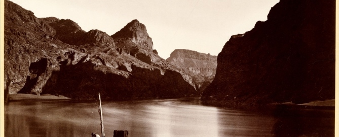Timothy H. O'Sullivan (American, born Ireland, 1840–1882) Black Cañon, From Camp 8, Looking Above, 1871, Albumen silver print from glass negative 20 x 28.1 cm (7 7/8 x 11 1/16 in.) The Metropolitan Museum of Art, New York