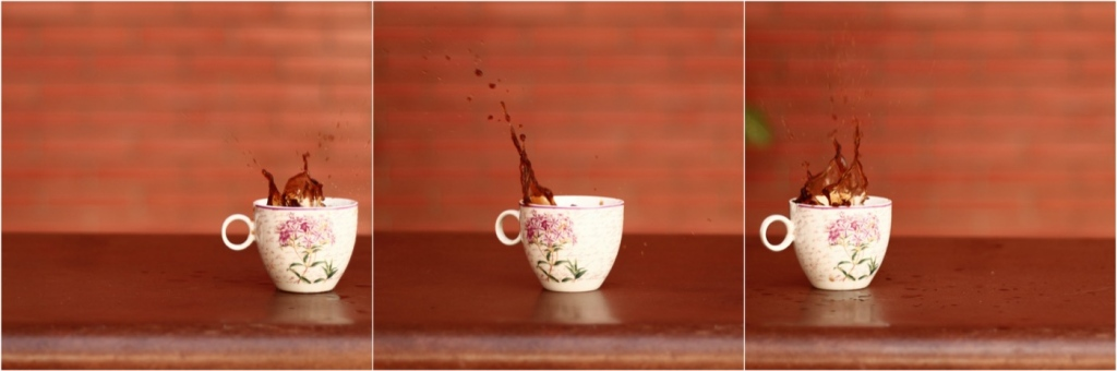 Coffee cups - montage