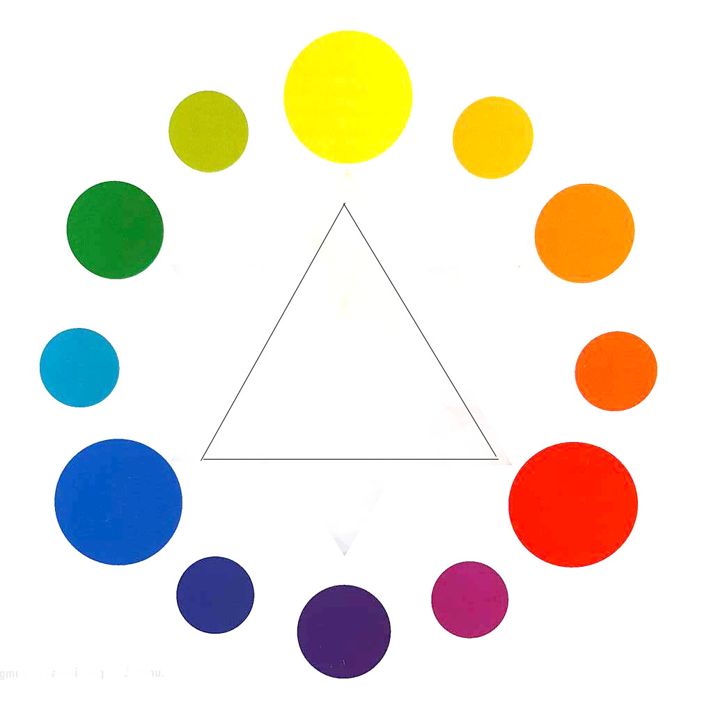 Harmonic Triads Are Combinations Of Colors That Connected By An Equilateral Triangle In The Color Wheel Strongest These Is