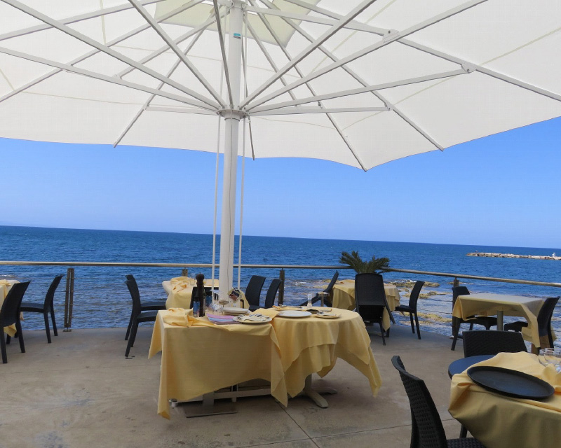 Beach cafe in Porto Torres